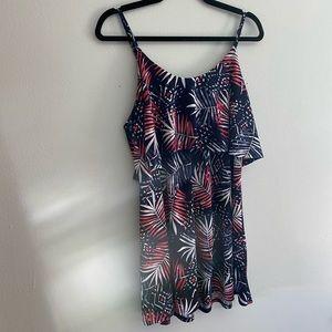 Flattering overlay dress